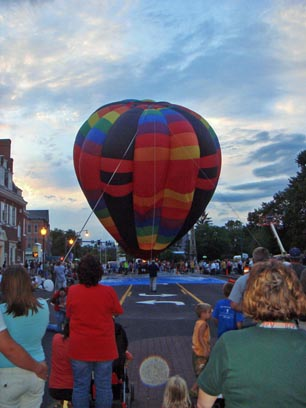Hot air balloon at special event