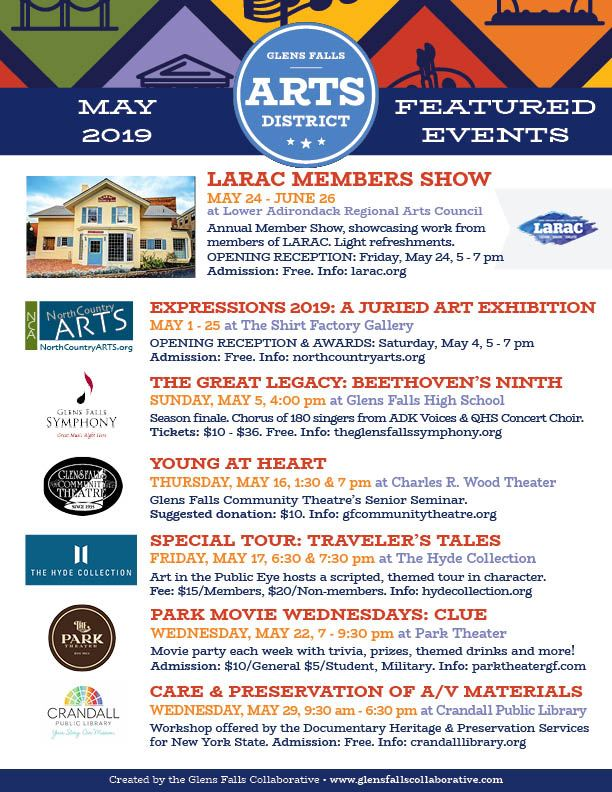 Arts Events May 2019
