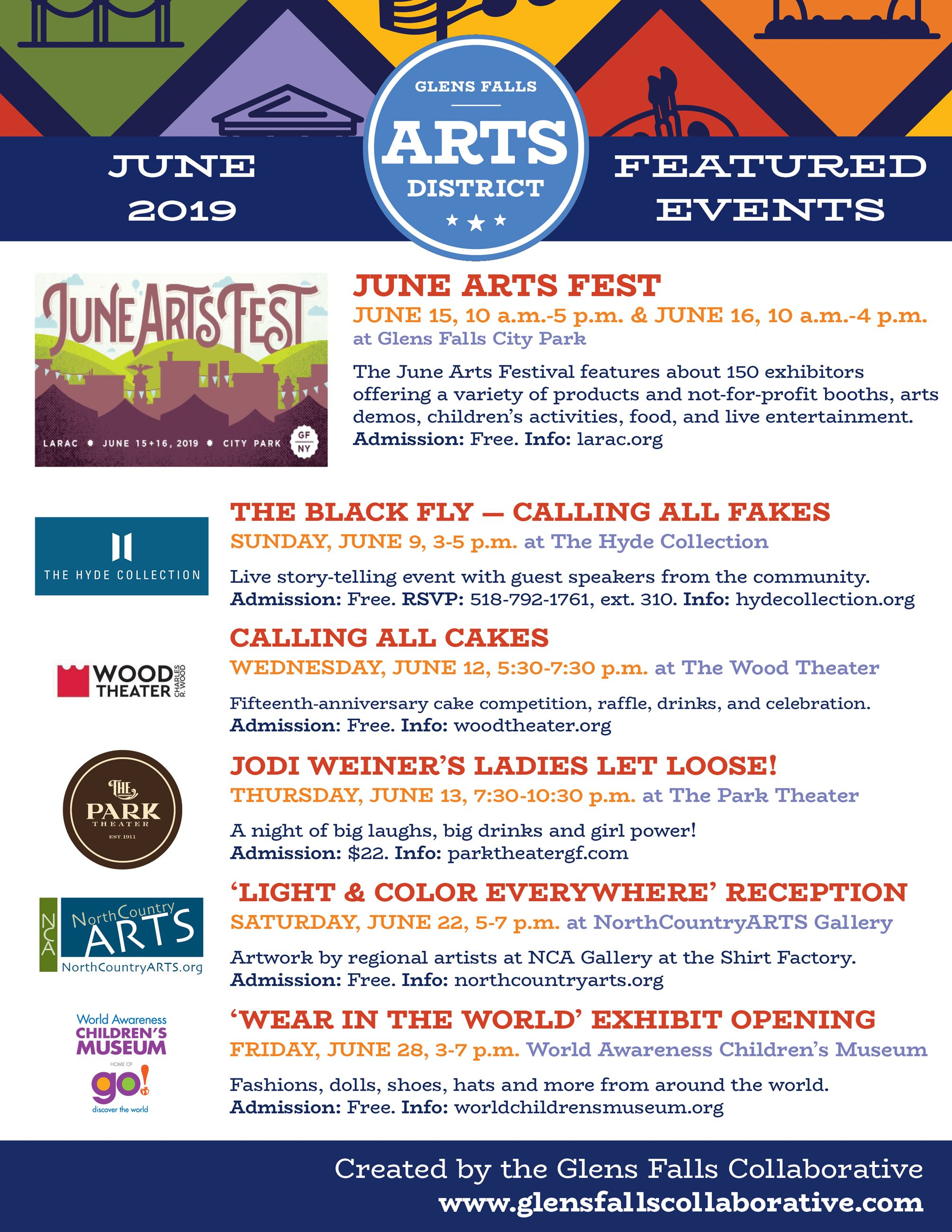 Arts Events June 2019