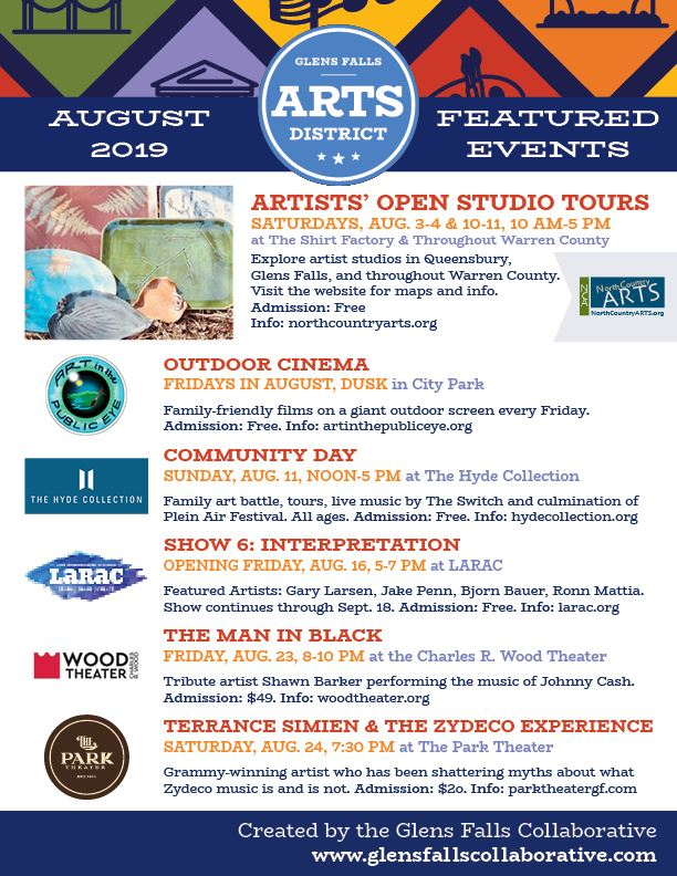 Arts Events August 2019