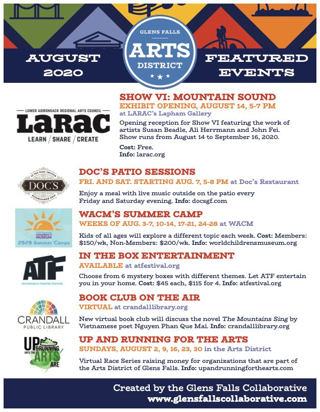 Arts Events August 2020