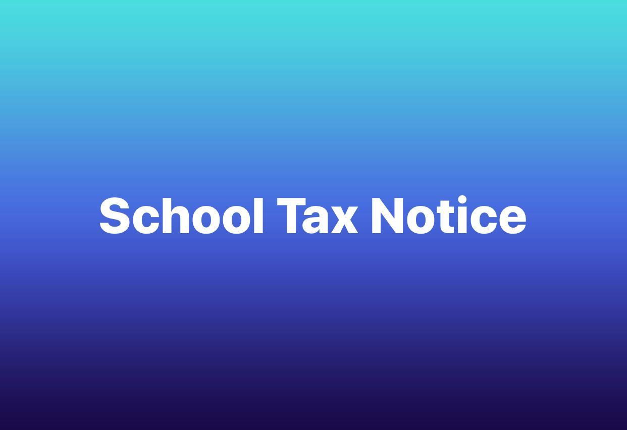 school tax notice